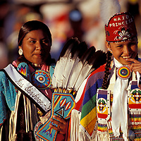 Miss Shoshone and NAID Princess, North American Indian days, Browning, Blackfeet Indian Reservation, Montana, USA