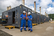 Power generation site for construction of the expansion of the Panama Canal GUPC Pacific.<br /> Planta de Agrekko instalada para el suministro de energ&iacute;a el&eacute;ctrica para la construcci&oacute;n de la expansi&oacute;n del Canal de Panam&aacute; &ndash; GUPC Pac&iacute;fico.
