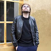 "Milan, Italy, May 8, 2017. Italian artist Francesco Vezzoli at the Prada Foundation for the opening of his exhibition: ""TV 70: Francesco Vezzoli guarda la Rai""."