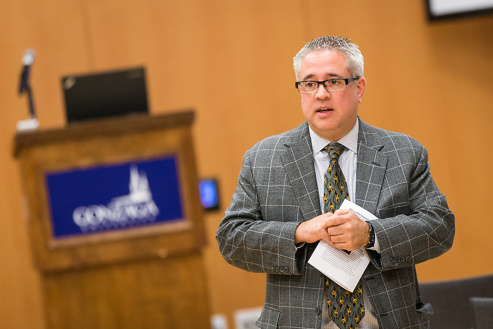 The McCleary Funding Litigation conference was held for a second year in a row by Gonzaga's School of Education and School of Law in the Hemmingson Ballroom on November 10, 2015. (Photo by Ryan Sullivan)