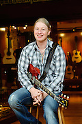 Derek Trucks photographed at Rudy's Music Soho for Guitar Edge Magazine, New York City. March 18, 2010. Copyright © 2010 Chris Owyoung. All Rights Reserved.