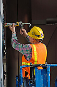 Anchorage airport Concourse C Construction worker