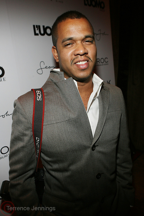 "Photographer Johnny Nunez pictured at the cocktail party celebrating Sean ""Diddy"" Combs appearance on the "" Black on Black "" cover of L'Uomo Vogue's October Music Issue"