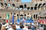 20160701 - Conferenza Colosseo fine lavori restauro. Renzi, Della Valle