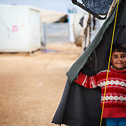 A Syrian child living in Za'atari refugee camp. Over 50% of the 3.8 million Syrian refugees are under the age of 18.