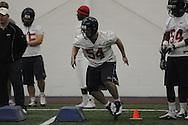 Walker Sturgeon (54) during Ole Miss' spring practice at the IPF in Oxford, Miss. on Monday, March 28, 2011.