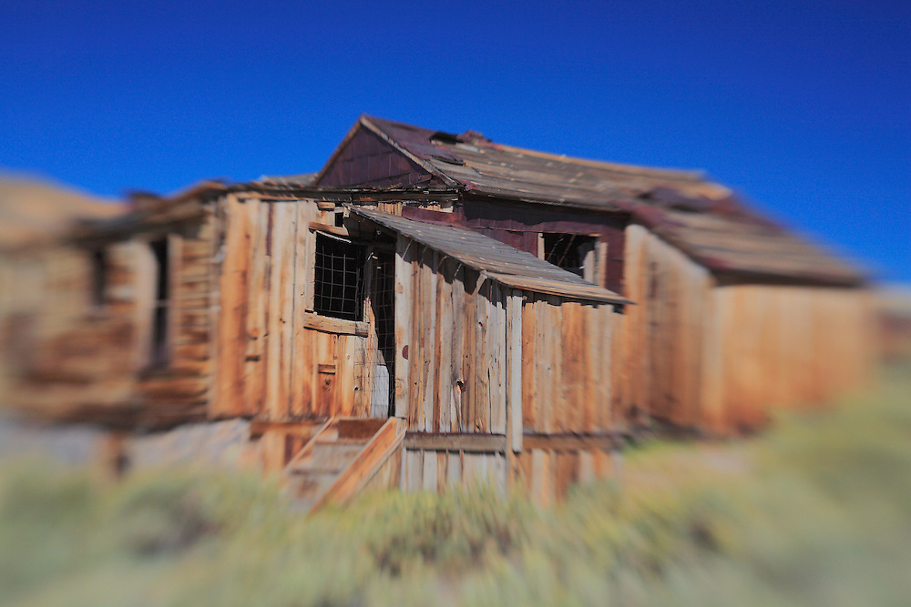 Collapsing Wood Shack - Bodie, CA - Lensbaby