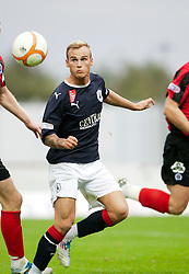 Falkirk's Kallum Higginbotham..Falkirk 1 v 0 Queen of the South, 15/10/2011..Pic © Michael Schofield.