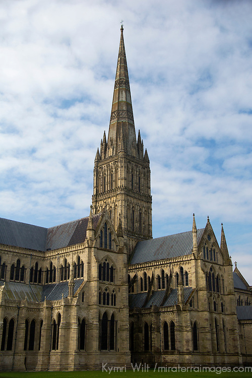 Europe, Great Britain, England, Salisbury. The Salisbury Cathedral.