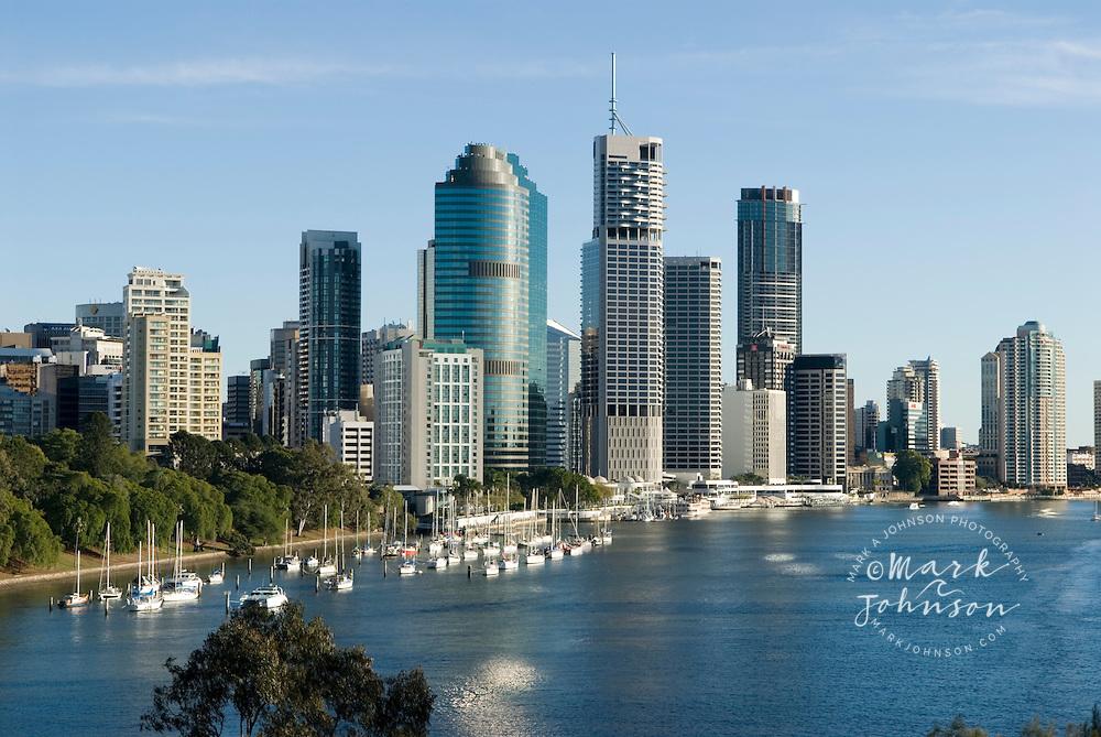 View of Brisbane, Queensland, Australia from Kangaroo Pt. cliffs