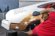Shelton, Washington - July 11, 2015: during the 24 Hours of LeMons Pacific Northworst GP race at The Ridge Motorsports Park in Shelton Washington.<br /> CREDIT: Matt Roth