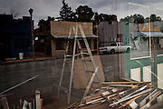 Empty storefronts in Isleton, Calif, June 3, 2011.