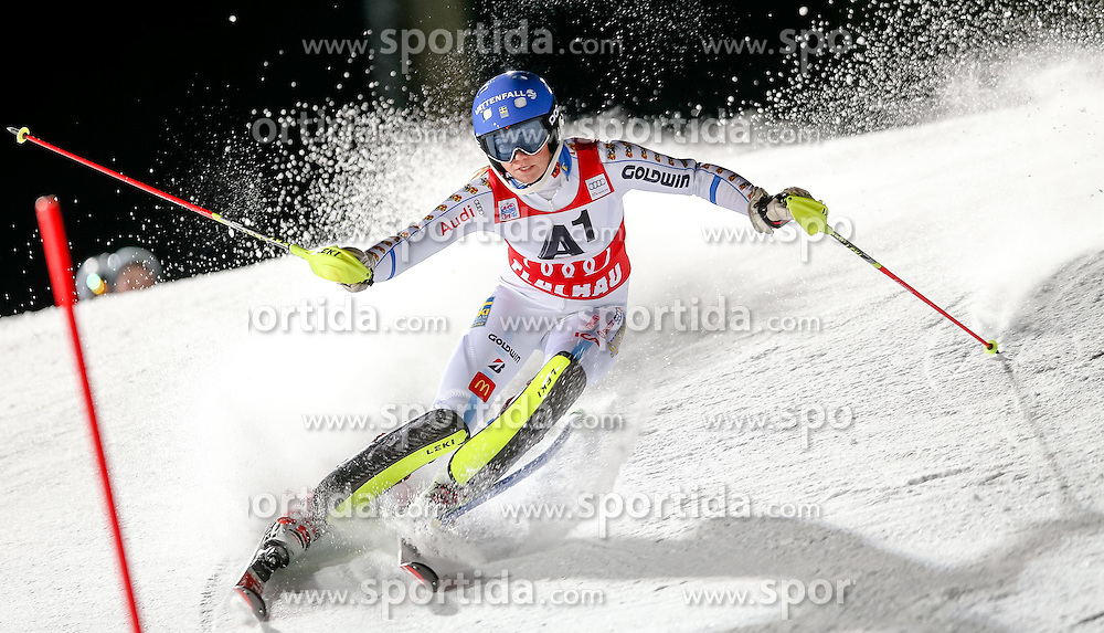 13.01.2015, Hermann Maier Weltcupstrecke, Flachau, AUT, FIS Weltcup Ski Alpin, Flachau, Slalom, Damen, 1. Lauf, im Bild Frida Hansdotter (SWE) // Frida Hansdotter of Sweden in action during 1st run of the ladie's Slalom of the FIS Ski Alpine World Cup at the Hermann Maier Weltcupstrecke in Flachau, Austria on 2015/01/13. EXPA Pictures © 2015, PhotoCredit: EXPA/ Johann Groder