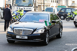 """St James, London, May 12th 2016. Protesters from transparency and accountability group One demonstrate demanding """"a new, global standard of transparency that could end the corruption that keeps people poor"""". PICTURED; A Nigerian diplomatic car arrives at the conference."""