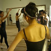 Colombian professional dancers train daily at Ana Pavlovas Dancing Academy in Bogota.