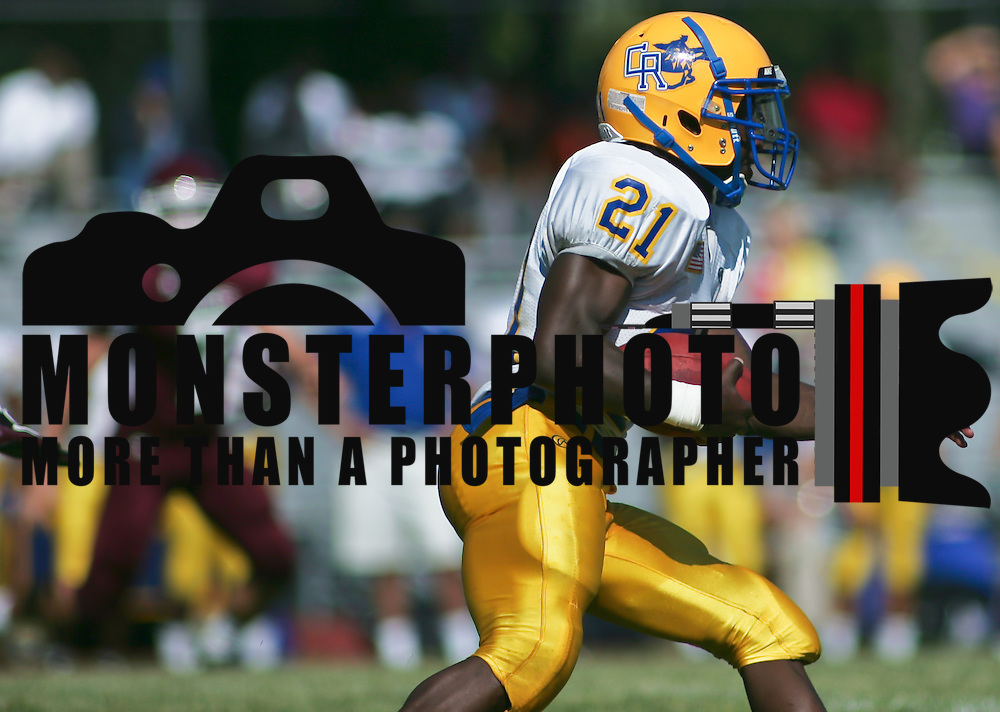 9/17/10 Wilmington DE: Caesar Rodney RB Allannio Monsanto on his way to a Touch down during game action at Concord High School in Wilmington Delaware. The Caesar Rodney Riders defeated The Concord Raiders 46-29. Special to The News Journal/SAQUAN STIMPSON