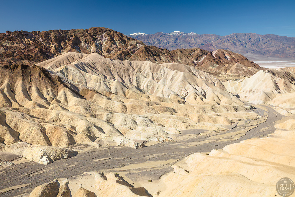 """Gower Gulch 2"" - Photograph taken from Zabriskie Point of Gower Gulch in Death Valley, California."