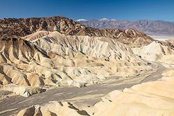 """""""Gower Gulch 2"""" - Photograph taken from Zabriskie Point of Gower Gulch in Death Valley, California."""