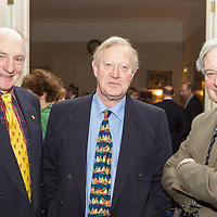 (l to r) Derek Jago, Philip Watson, and Larry Martin at the Classic Dragon Reunion in the Royal St George Yacht Club (Dún Laoghaire) where a large number of current and classic Dragon sailors gathered to celebrate the long (and continued) success of the class.
