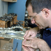 Silversmith Jeffrey Herman, founder of the Society of American Silversmiths