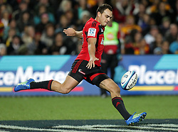 Crusaders' Israel Dagg in action against the Chiefs in a Super Rugby match, Waikato Stadium, Hamilton, New Zealand, Friday, July 06, 2012.  Credit:SNPA / David Rowland