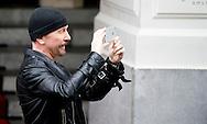 AMSTERDAM - Bono and the edge of U2 in Amsterdam  . COPYRIGHT ROBIN UTRECHT