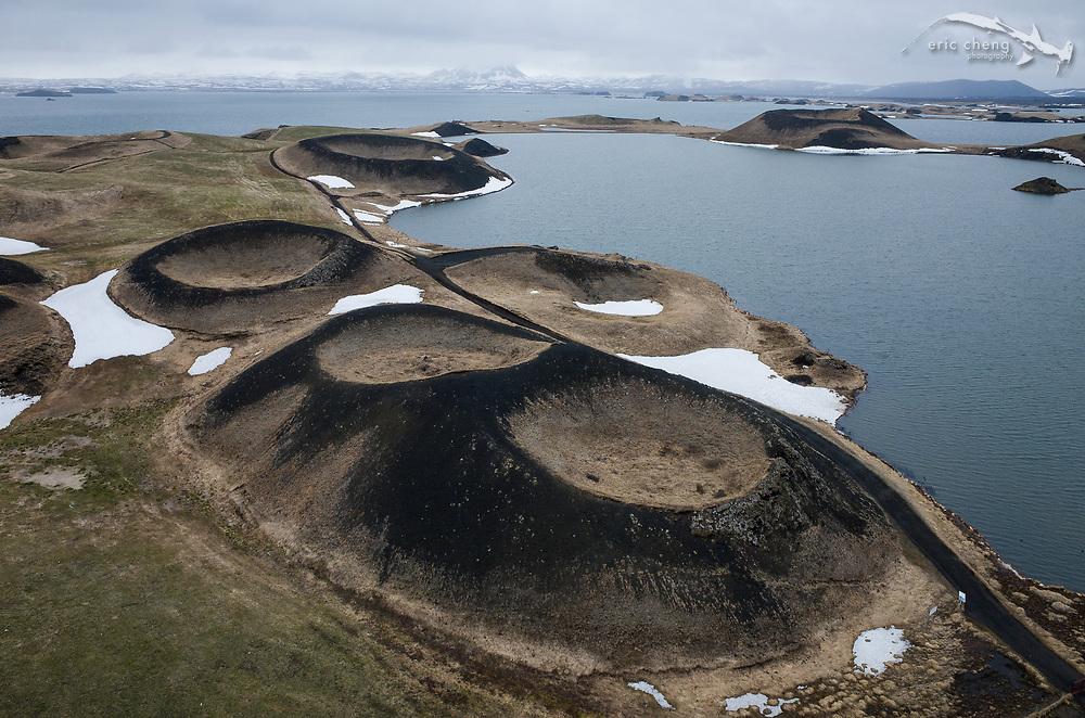 Pseudo-craters at Lake Myvatn