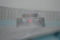 Patrick Carpentier in the wet at Watkins Glen International, Watkins Glen Indy Grand Prix, September 25, 2005
