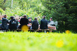 Cannabis pairing dinner party at North Fork 53 near Nehalem, Oregon. North Fork 53 is an educational farm stay in the beautiful North Fork Nehalem River valley along the Oregon coast.