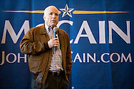 Sen. John McCain (R-AZ) holds a town hall meeting in Pembroke, N.H., on Wednesday, Jan. 2, 2008.
