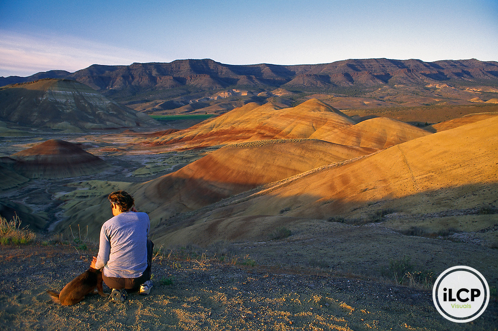Krista Schlyer and Maggie at the John Day Fossil Beds National Monument in Oregon.