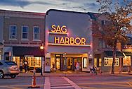 New York, Long Island, Sag Harbor, Sag Harbor Theater, Dusk