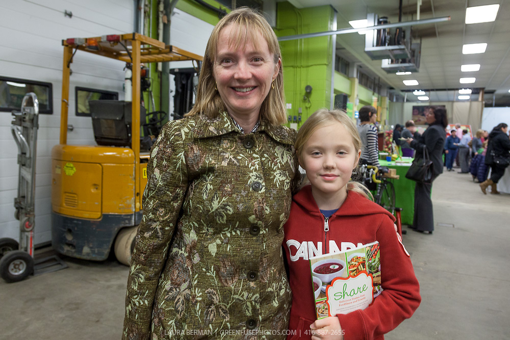 """Recipe tester and food stylist Lansleigh Landry and daughter at the launch party of """"share"""", FoodShare's 1st cookbook. Nov. 14, 2012"""