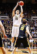 WEST LAFAYETTE, IN - JANUARY 27: Donnie Hale #15 of the Purdue Boilermakers shoots the ball against the Iowa Hawkeyes at Mackey Arena on January 27, 2013 in West Lafayette, Indiana. Purdue defeated Iowa 65-62 in overtime. (Photo by Michael Hickey/Getty Images) *** Local Caption *** Donnie Hale