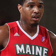 Maine Red Claws Forward COTY CLARKE (4) attempts to shoot a free-throw in the first half of a NBA D-league regular season basketball game between the Delaware 87ers and the Maine Red Claws  Friday, Feb. 05, 2016 at The Bob Carpenter Sports Convocation Center in Newark, DEL.