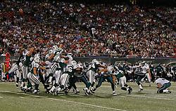 Sept 3, 2009; East Rutherford, NJ, USA;  Philadelphia Eagles PK David Akers (2) kicks a field goal during the first half at Giants Stadium.