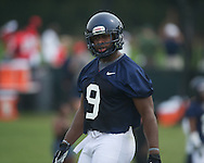 Ole Miss' D.T. Shackelford (9) at football practice in Oxford, Miss. on Saturday, August 3, 2013.