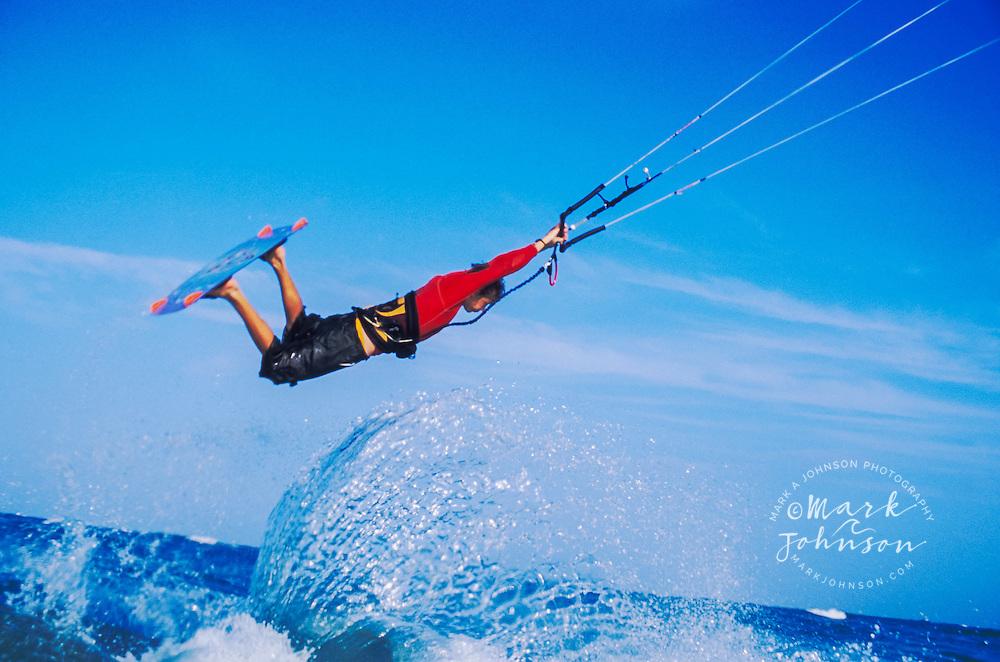 Australia --- Man Kite Surfing --- Image by © Mark A. Johnson/Corbis