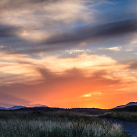 A spectacular sunset in the William F. Hayden Park on Green Mountain in Lakewood, Colorado.