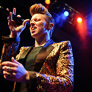 """WASHINGTON, D.C. - November 11th, 2010:  English pop sensations La Roux finally play the 9:30 Club after previously postponing the date three times. The band is currently riding high on the US chart success of their single """"Bulletproof."""" (Photo by Kyle Gustafson/For The Washington Post)"""