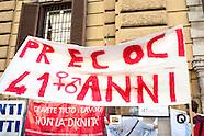 20150922 - Sit in sindacati davanti il MEF