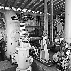 A massive water pump used in the mine in Jerome, AZ.