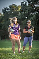 """Senior Recreation Leader Emily Gouveia and Recreation Coordinator Megan McCaffrey oversee youth soccer practices at Logvy Community Park in Calistoga.  """"We grew up in Calistoga and we would love to live here but its just too expensive...so, we live in Napa."""