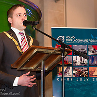 (l to r) Councillor Cormac Devlin (An Cathaoirleach, Dún Laoghaire-Rathdown County Council) addressing the official launch of Volvo Dún Laoghaire Regatta 2017 in the National Maritime Museum of Ireland on Wednesday evening. The Regatta will be among the biggest mass-participatory sporting event in Ireland this year (eclipsed for numbers only by the city marathons).