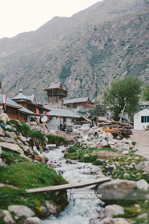 Stream flowing through the village of Chitkul, Kinnaur.