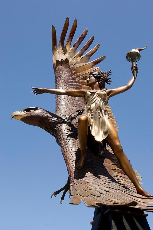 Statue at Jack London Square, Oakland, California, United States of America