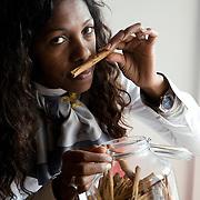 Moncalieri, (TO), Italy, April 29, 2011..Edith Elise Jaomazava, foreign entrepreneur from Madagascar, is the winner of 'The MoneyGram Award' 2010..Edith, who lives in Moncalieri, founded the company SA.VA., in 2004 in Turin, with offices in Italy and Madagascar, whose main activity is the marketing of bourbon vanilla berries in Europe and high quality spices. SA.VA contributes to employment and development of new crops in Madagascar on the basis of the Italian demand....Moncalieri (TO), Italia, 29 Aprile 2011..Edith Elise Jaomazava, nativa del Madagascar, è la vincitrice del premio Imprenditrice Straniera 'The MoneyGram Award' 2010..Edith, residente a Moncalieri, fonda nel 2004 a Torino la SA.VA., un' azienda con sedi in Italia e nel Madagascar, la cui attività principale consiste nella commercializzazione in Europa della vaniglia bourbon in bacche e spezie di alta qualità. LA SA. VA contribuisce a dare occupazione e sviluppare nuove colture in Madagascar sulla base della domanda italiana..