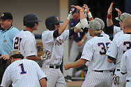 Mississippi's Alex Yarbrough hits a solo home run in the 8th inning vs. LSU at Oxford-University Stadium on Sunday, April 25, 2010 in Oxford, Miss. Ole Miss won 7-6 to sweep the three game series