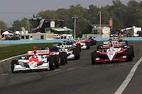 The start at Watkins Glen International, Watkins Glen Indy Grand Prix, September 25, 2005