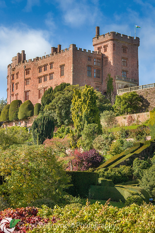 Powis Castle was  was transformed into a stately home from the mid 17th century. One of its Welsh names was Castell Coch - or Red Castle.
